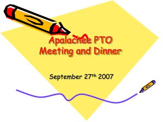 Apalachee PTO  Meeting and Dinner