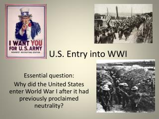 U.S. Entry into WWI