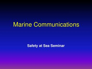 Marine Communications