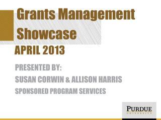 Grants Management Showcase