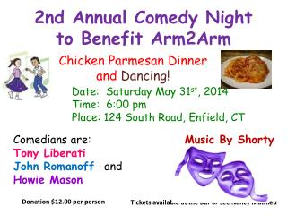 2nd Annual Comedy Night to Benefit Arm2Arm