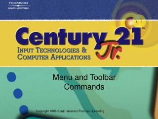 Menu and Toolbar Commands