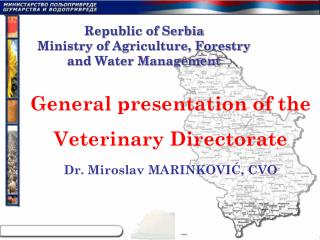 Republic of Serbia Ministry of Agriculture, Forestry and Water Management