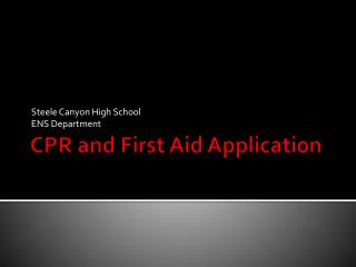 CPR and First Aid Application
