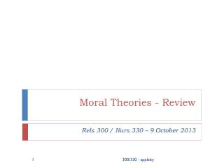 Moral Theories - Review