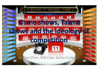 Game shows, Talent shows and the ideology of competition