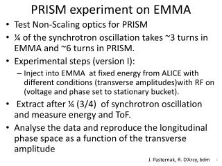 PRISM experiment on EMMA