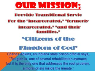 "Associated  prison ministry ""making  a  difference"""