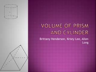Volume of Prism and Cylinder