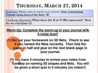Thursday, March 27, 2014