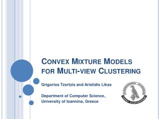 Convex Mixture Models for Multi-view Clustering