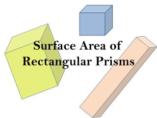 Surface Area of Rectangular Prisms