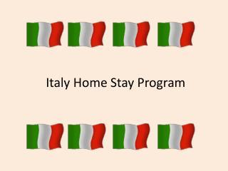 Italy Home Stay Program