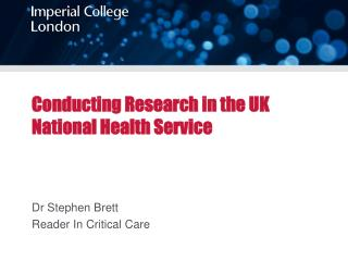 Conducting Research in the UK National Health Service