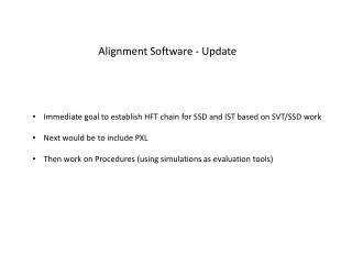 Alignment Software - Update