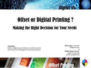 Offset or Digital Printing ?