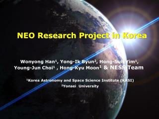 NEO Research Project in Korea