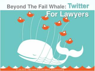 Beyond The Fail Whale: