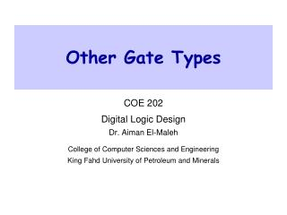 Other Gate Types