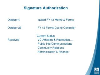 Signature Authorization