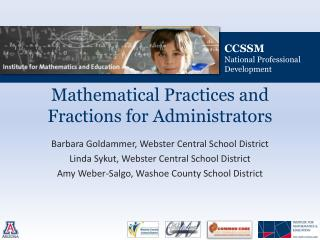 Mathematical Practices and Fractions for Administrators
