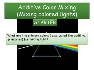 Additive Color Mixing (Mixing colored lights)