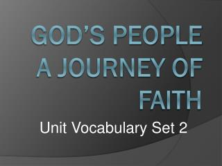 GOD'S PEOPLE A JOURNEY OF FAITH