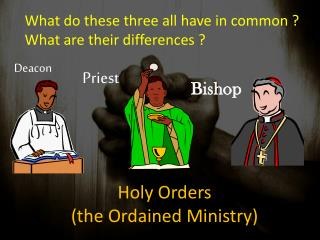 Holy Orders (the Ordained Ministry)