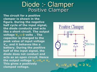 Diode :- Clamper