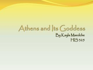 Athens and Its Goddess
