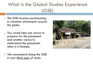 What is the Global Studies Experience (GSE)
