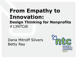 From Empathy to Innovation: Design Thinking for Nonprofits #13NTCdt