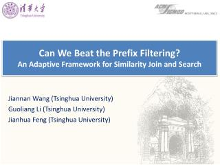 Can We Beat the Prefix Filtering? An Adaptive Framework for Similarity Join and Search