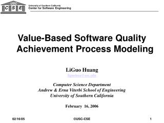 LiGuo Huang liguohua@usc Computer Science Department Andrew & Erna Viterbi School of Engineering University of Southern
