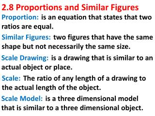 2.8 Proportions and Similar Figures