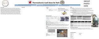 Thermoelectric Cook Stove  for  Haiti