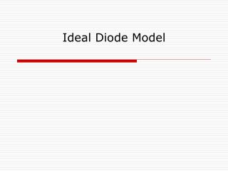 Ideal Diode Model