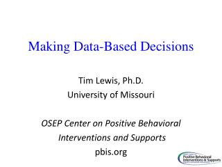 Making Data-Based Decisions
