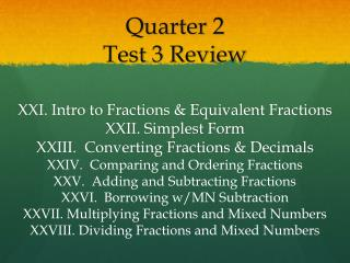 Quarter  2 Test  3  Review