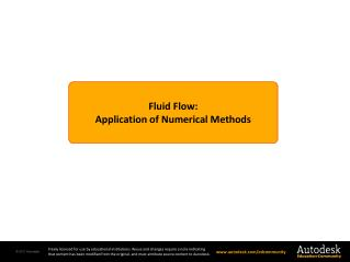 Fluid Flow: Application of  Numerical Methods