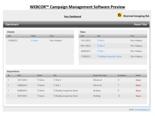 WEBCOR™ Campaign Management Software Preview