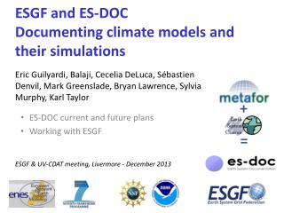 ESGF and ES-DOC Documenting climate models and their simulations