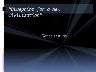 """Blueprint for a New Civilization"""