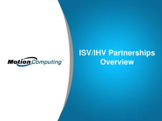 ISV/IHV Partnerships   Overview