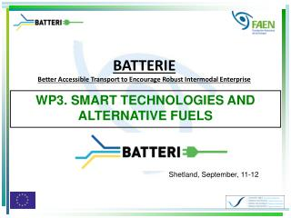 WP3. SMART TECHNOLOGIES AND ALTERNATIVE FUELS