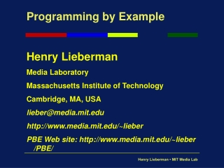 Programming by Example