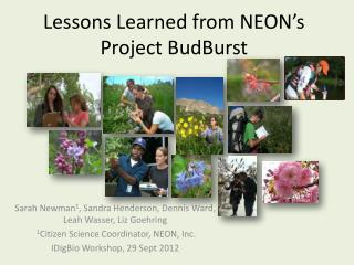 Lessons Learned from NEON's Project BudBurst