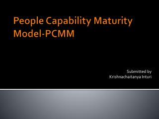 People Capability Maturity Model-PCMM