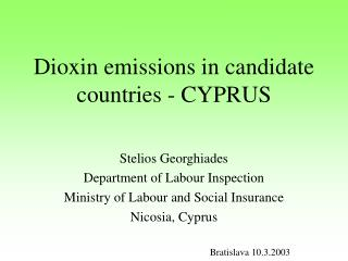 Dioxin emissions in candidate countries - CYPRUS