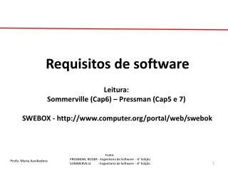 Requisitos de software